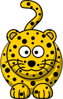 Cartoon leopard